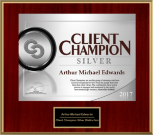 Award from the Client Champion Distinction